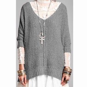 Free People Cozy Cat Chunky Knit Oversized Sweater